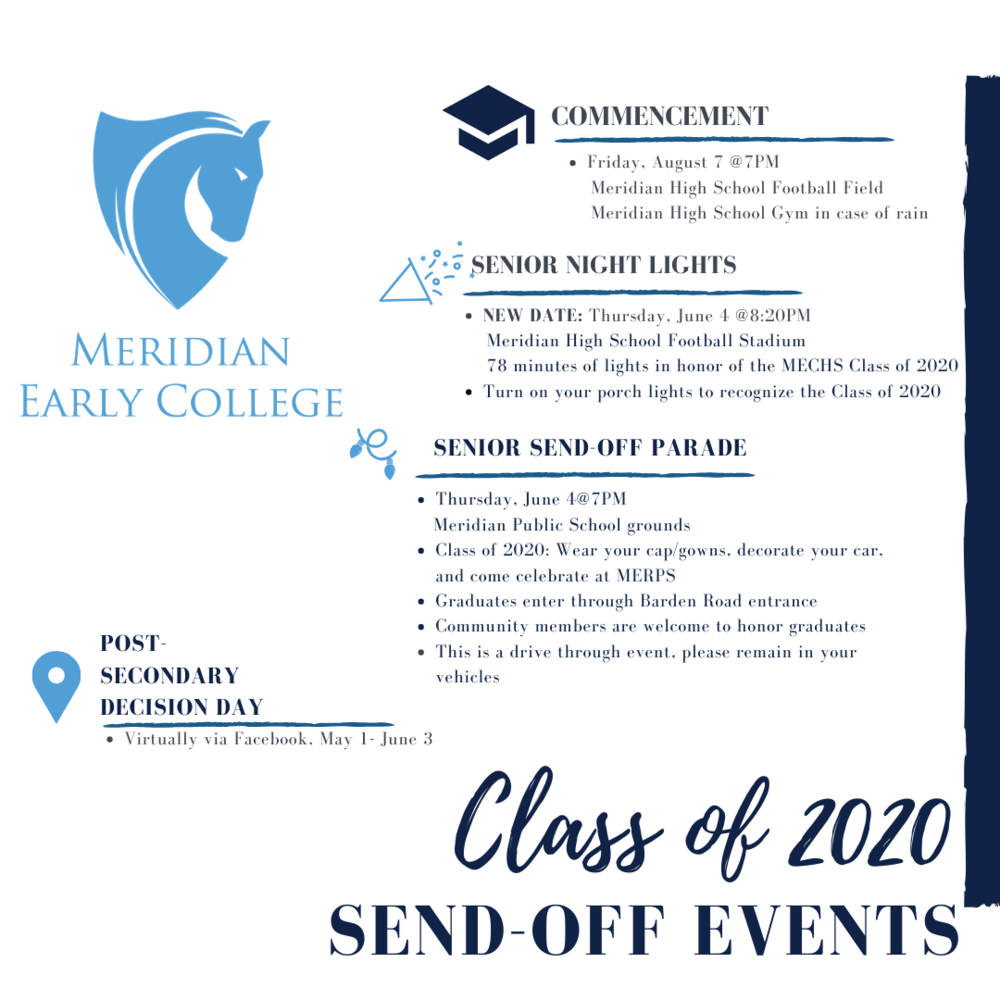 Class of 2020 Send-Off Events