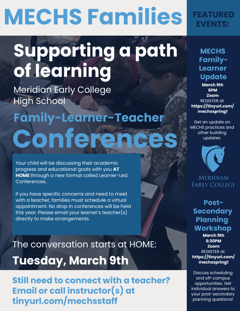 Spring Learner-Led Conferences