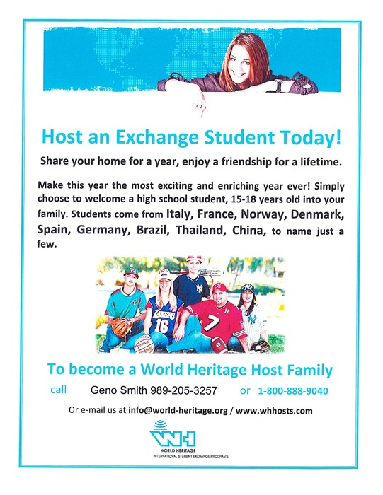Exchange Student Flyer