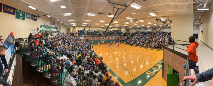 Houghton Lake gym during a basketball game