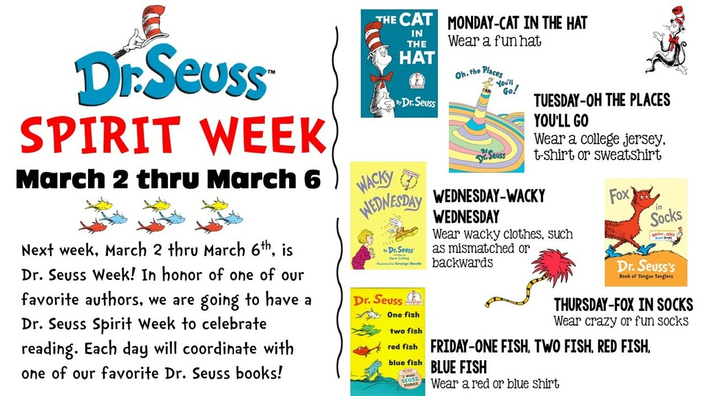 Dr. Seuss Spirit Week