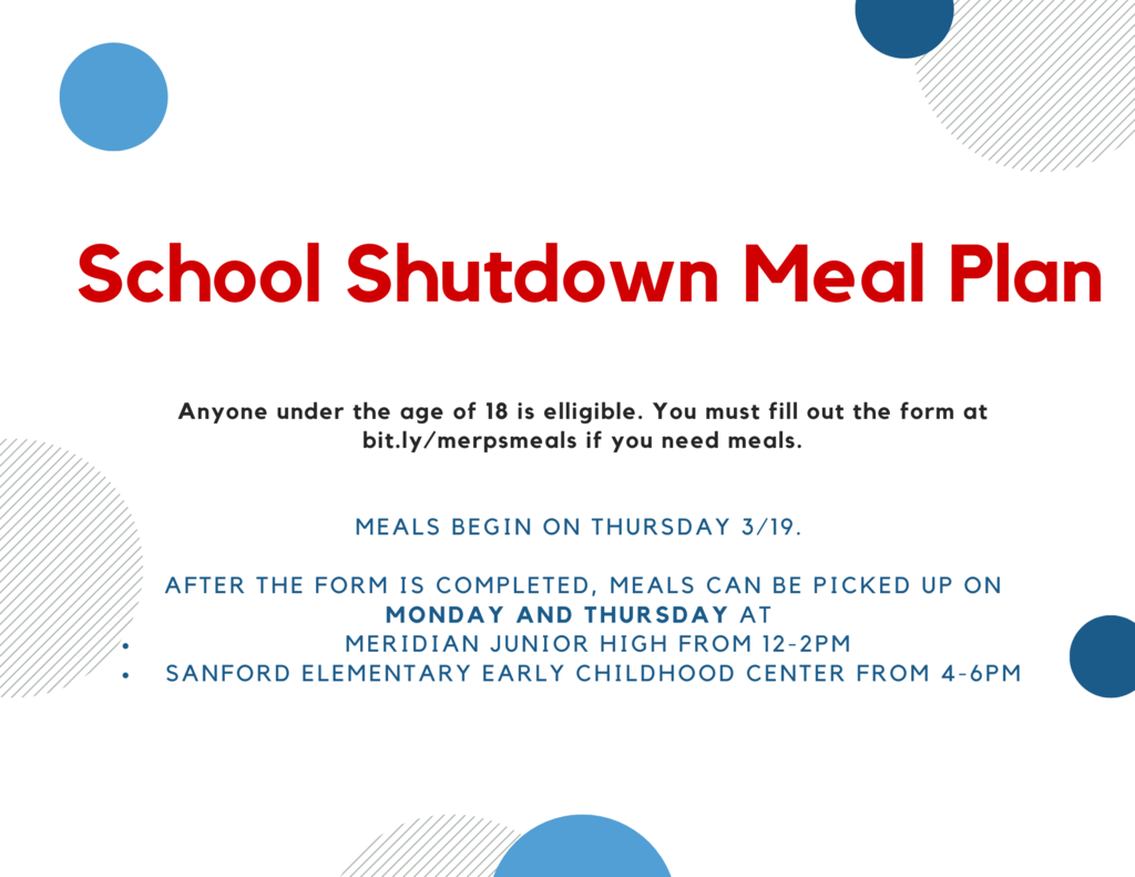 School Shutdown Meal Plan