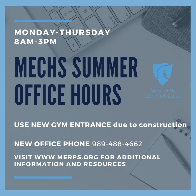 MECHS Summer Office Hours